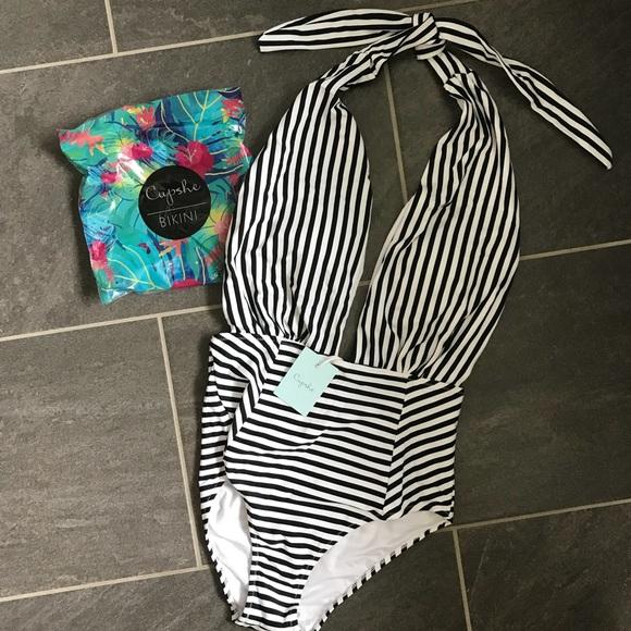 7215800161 Cupshe Swim | Farewell Cambridge Stripe Suit | Poshmark